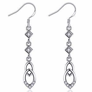 Platinum Plated Cubic Zirconium Earrings